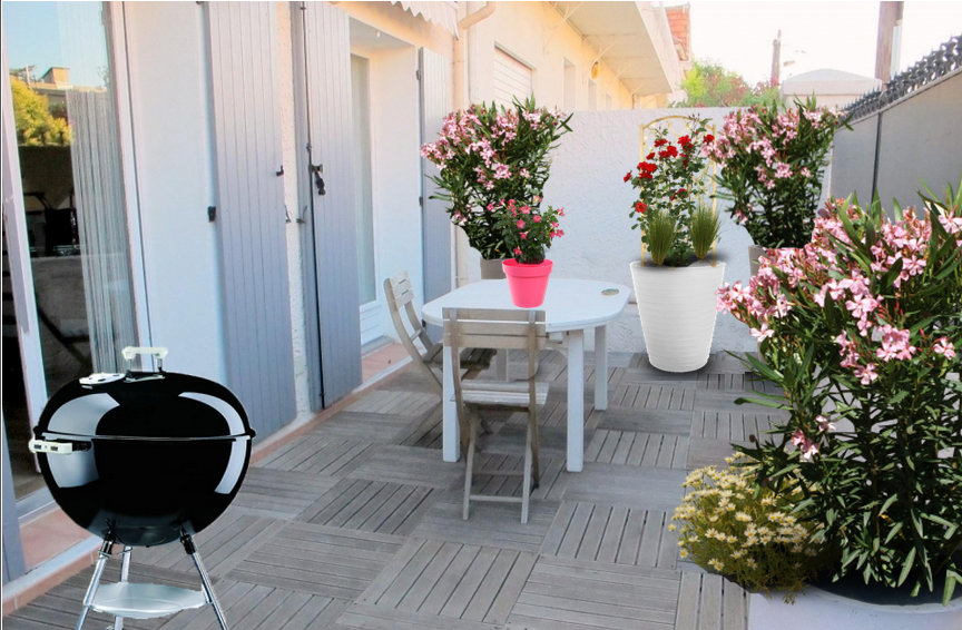 D coration du jour une terrasse ensoleill e monjardin - Fleurir sa terrasse exterieure ...
