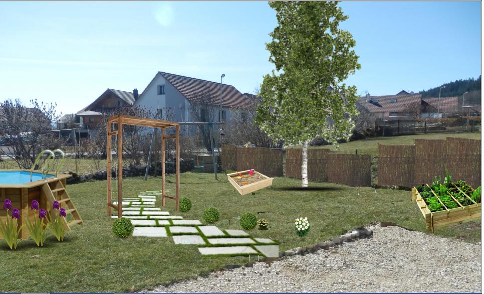 am nager un jardin convivial dans l est avec notre logiciel paysagiste monjardin. Black Bedroom Furniture Sets. Home Design Ideas