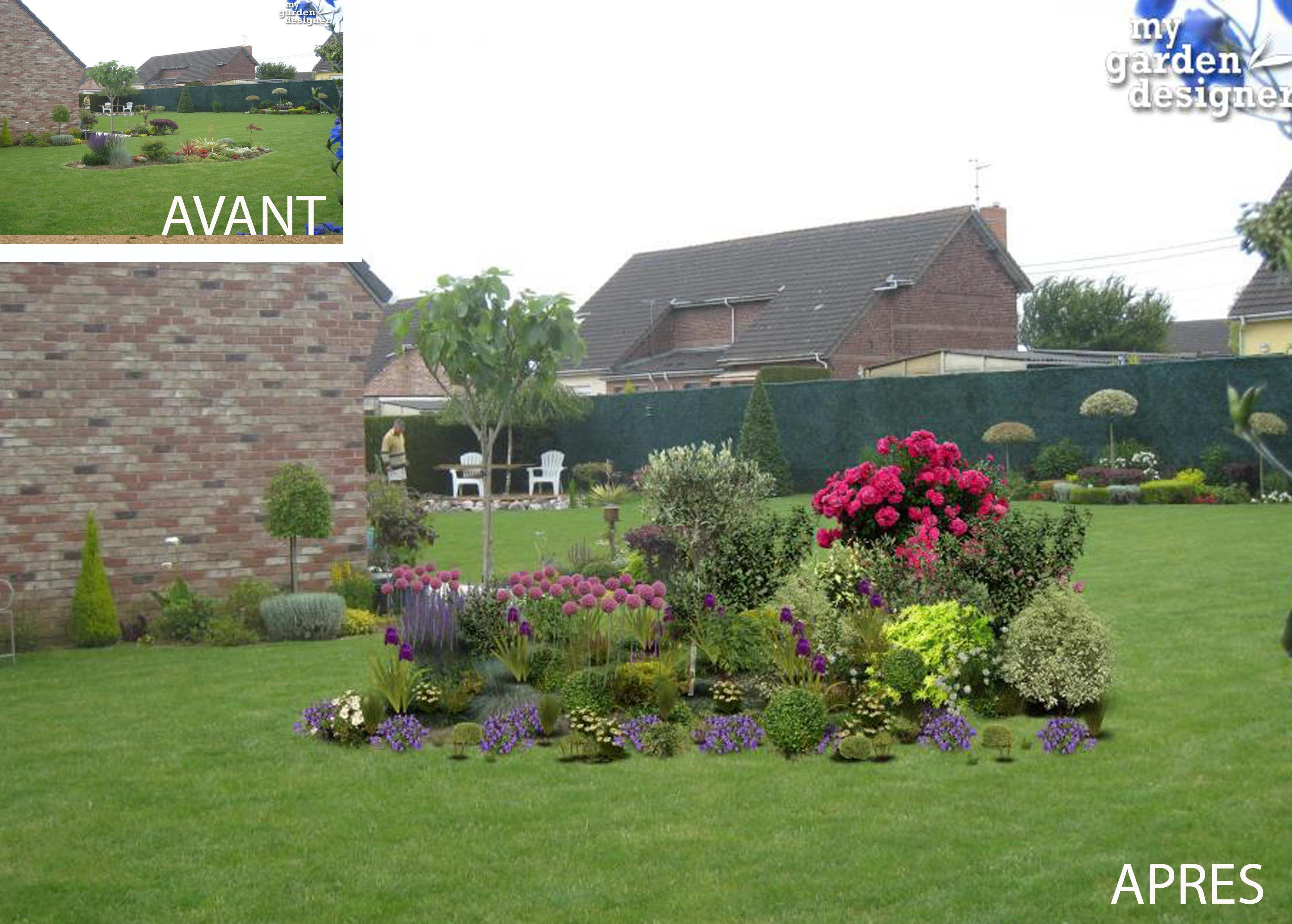 Am nager un massif de plantes monjardin for Amenager mon jardin