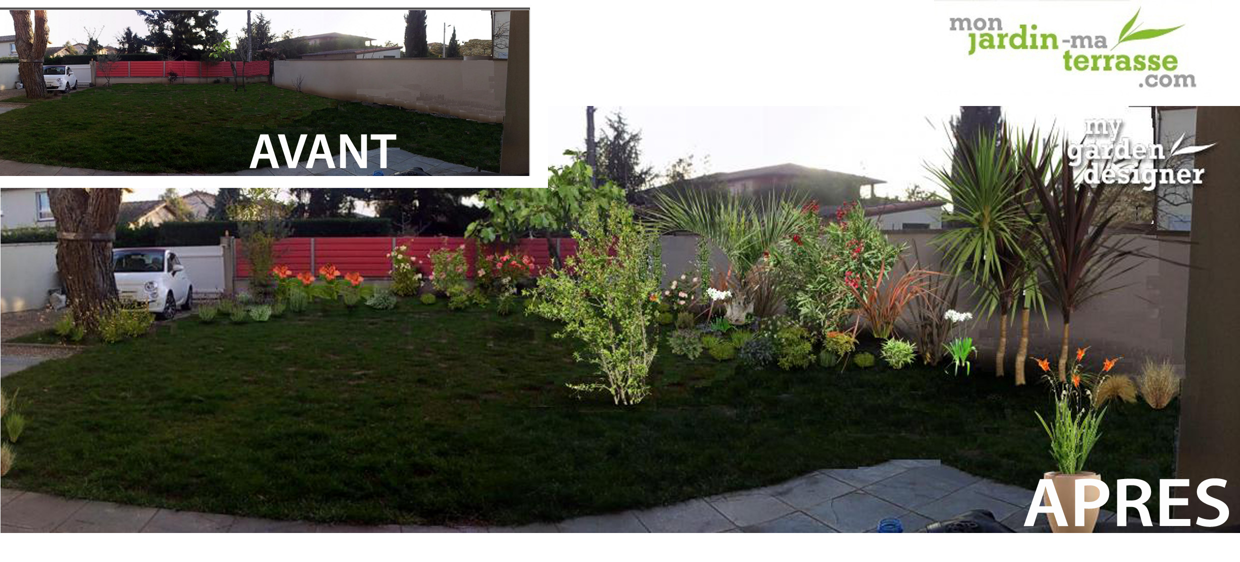 Am nagement paysager de vivaces monjardin for Amenagement jardin vis a vis