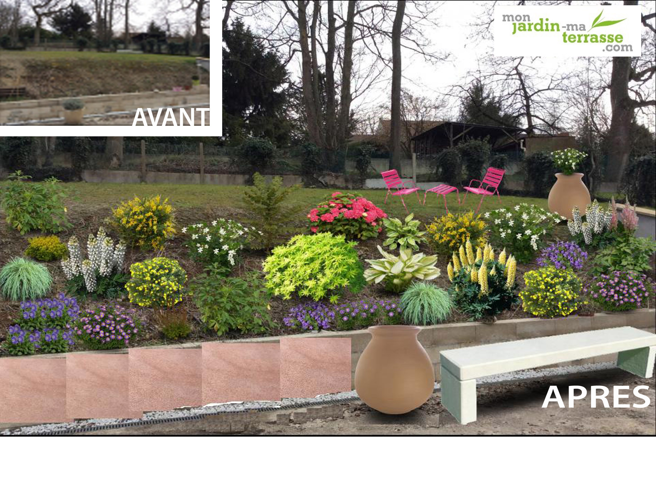 Am nager un talus en pente l ombre monjardin for Jardin en pente amenagement