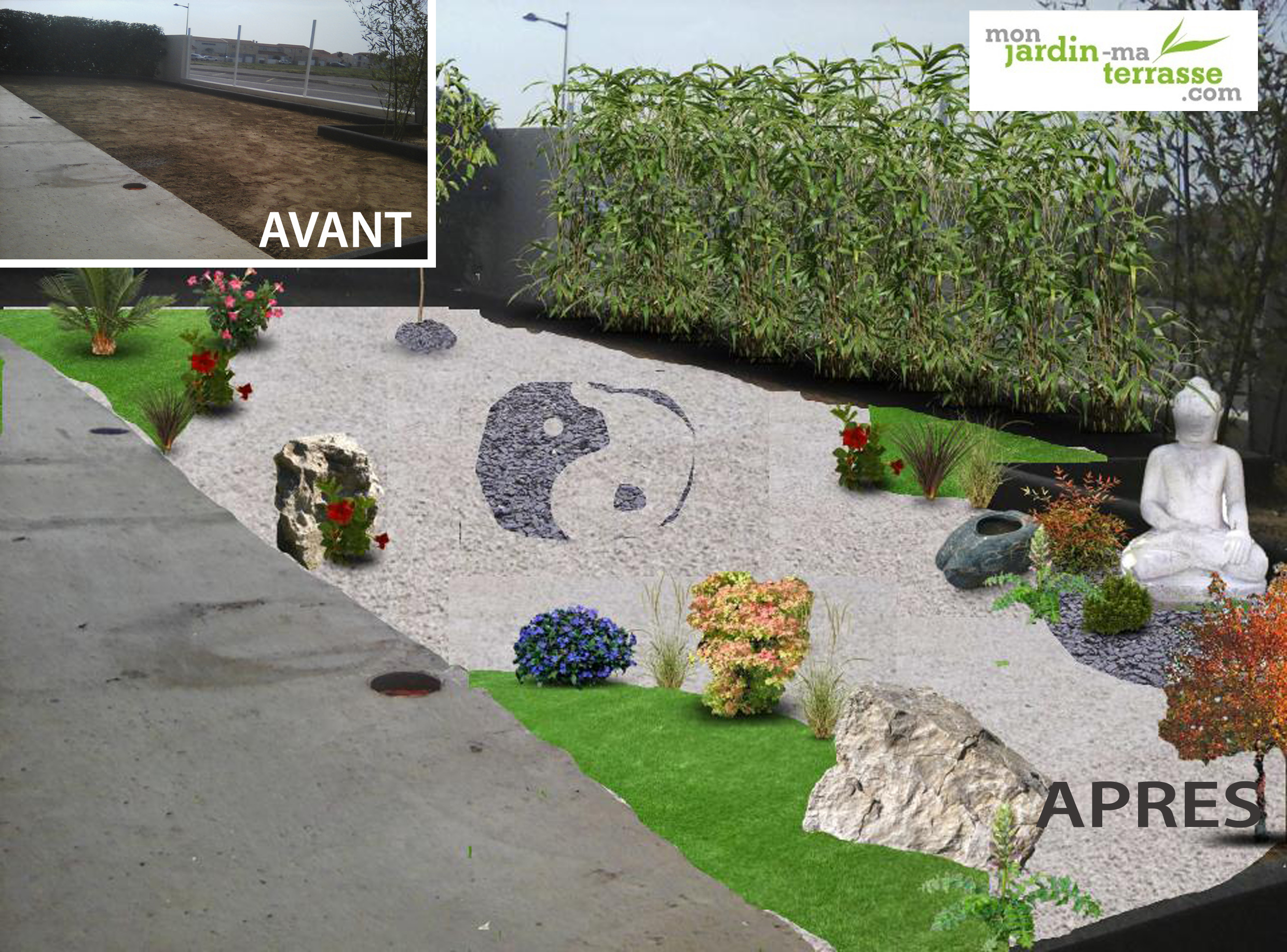 Avant apr s my garden designer for Idee amenagement de jardin exterieur