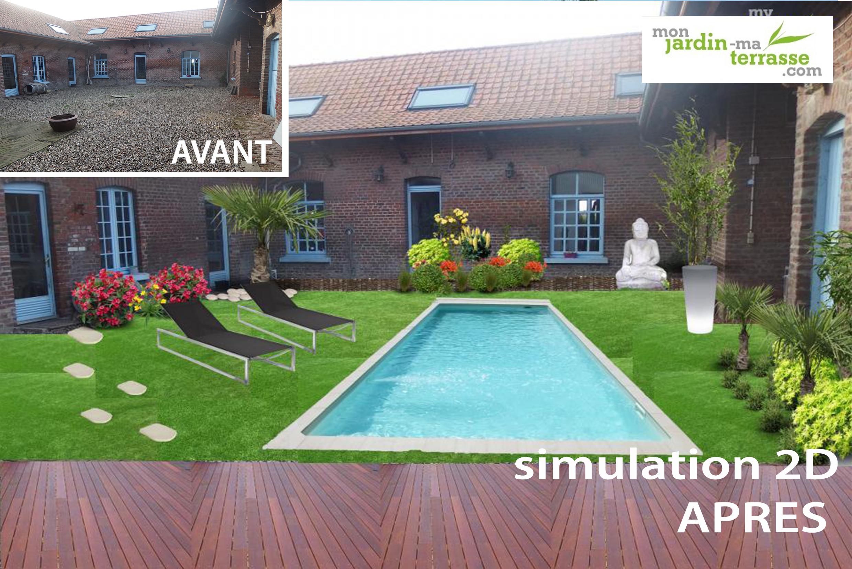 Avant apr s my garden designer for Logiciel gratuit pour creer son jardin