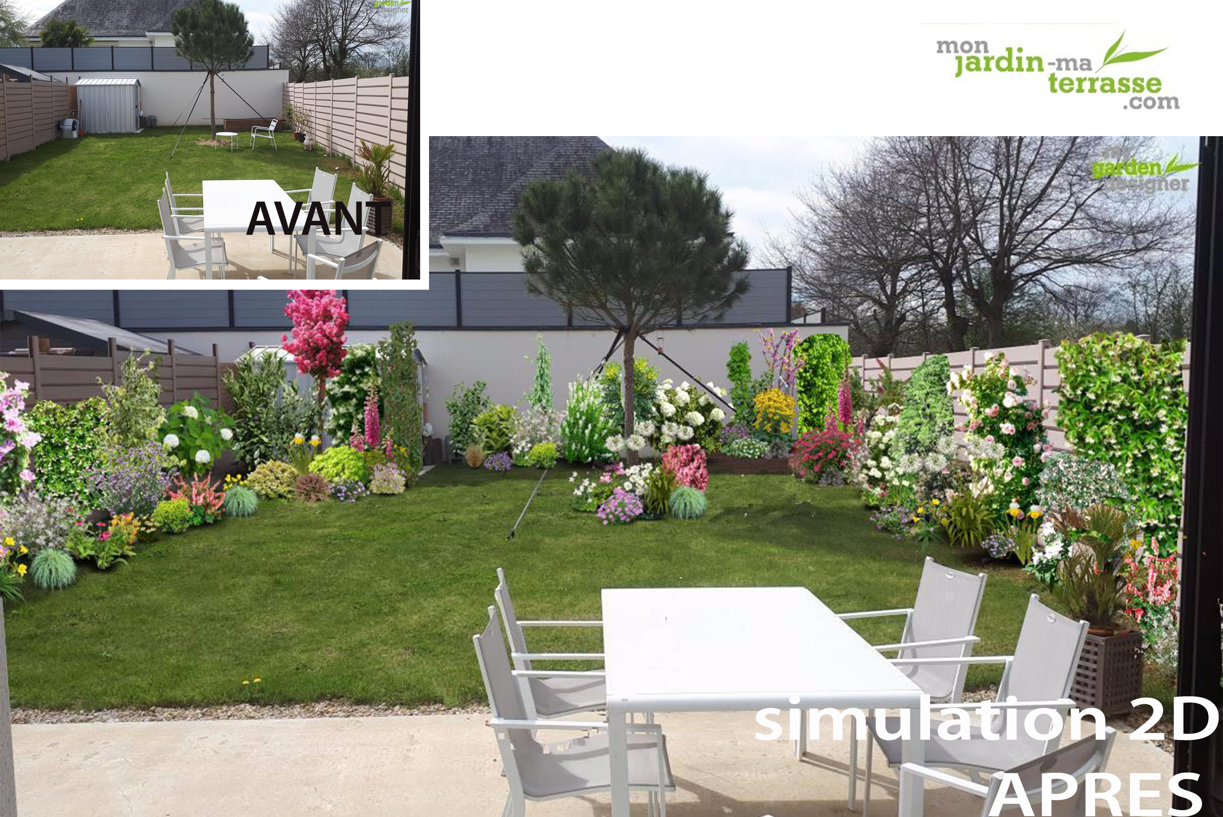 Exemple de jardin paysager exemple d amenagement de for Exemple d amenagement de jardin