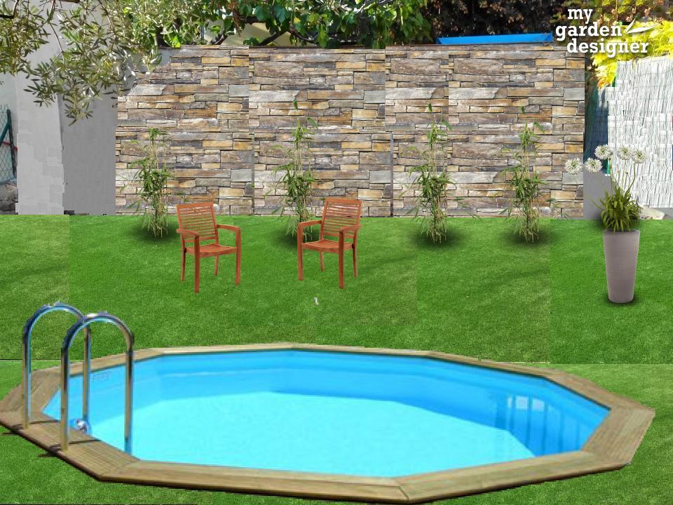 un jardin sans entretien avec piscine monjardin