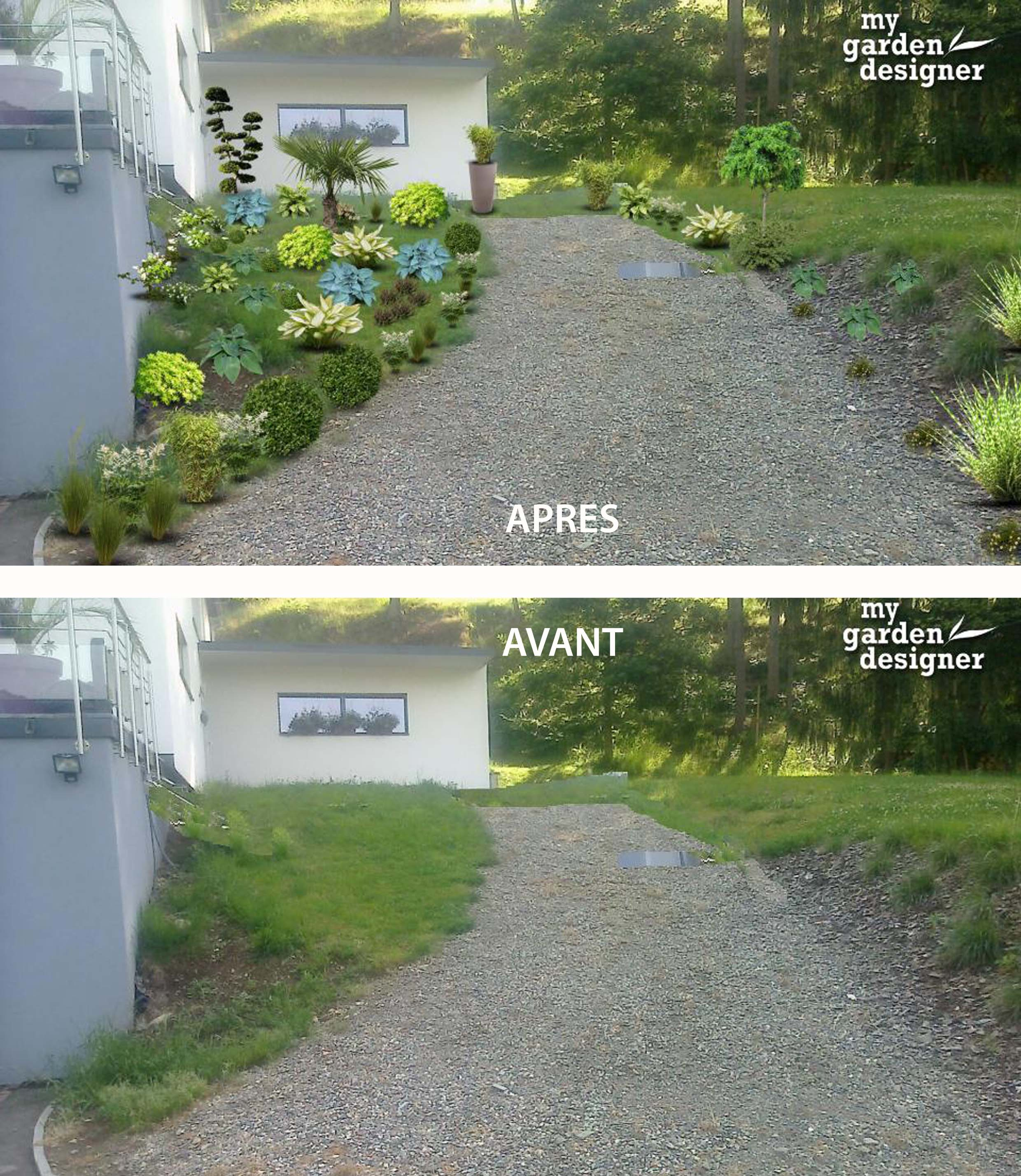 aménager un terrain en pente ombragé | monjardin-materrasse.com