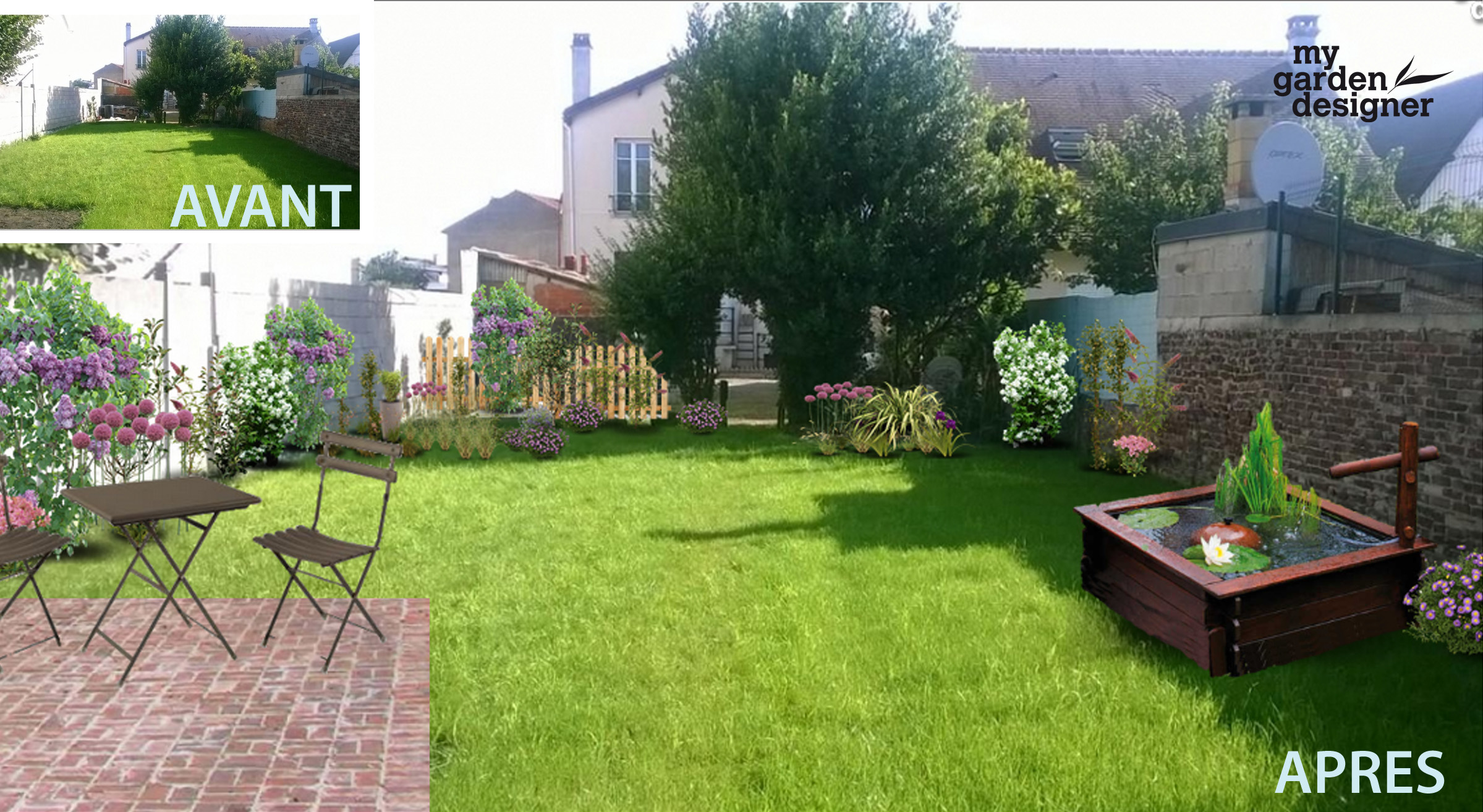 Am nager un jardin carr en ile de france monjardin for Amenagement jardin carre