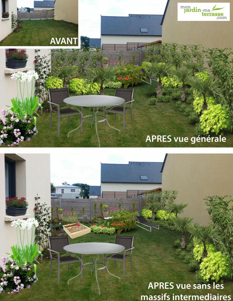 Derni res cr ations monjardin page 12 for Amenagement jardin tout en longueur