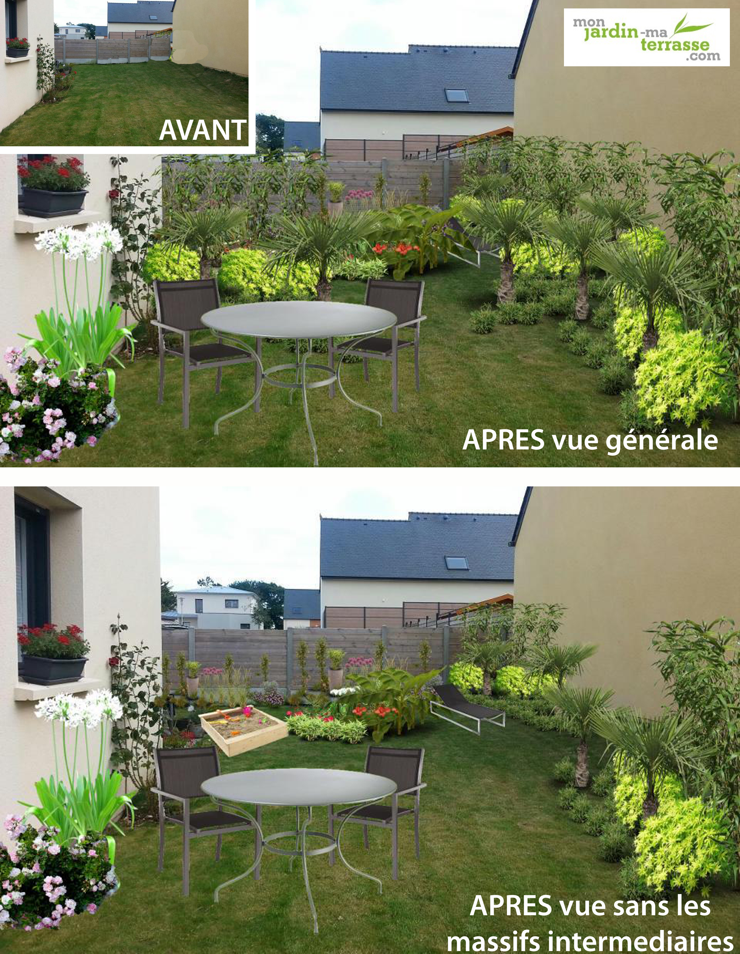 amenagement jardin en longueur