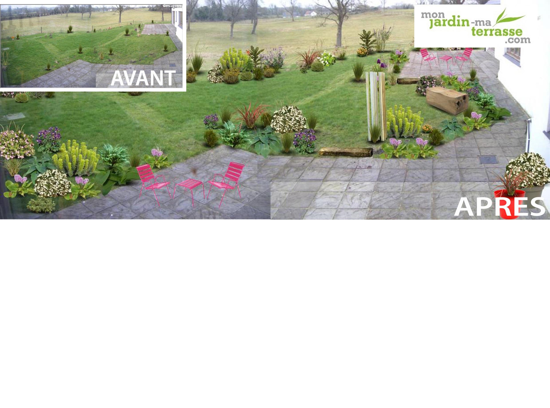 Cr er un jardin partir de rien monjardin - Creer un jardin mediterraneen avignon ...