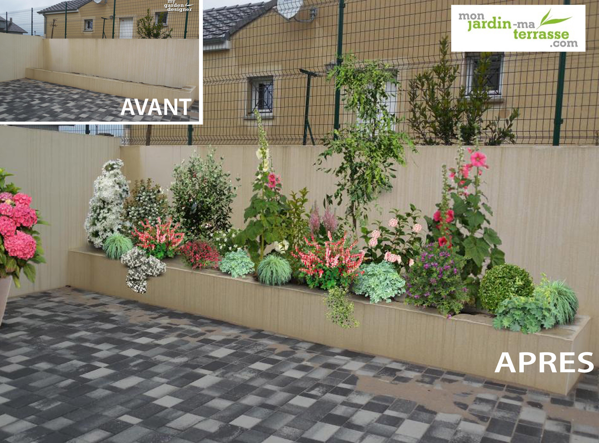 Amenagement jardiniere terrasse monjardin for Site amenagement jardin