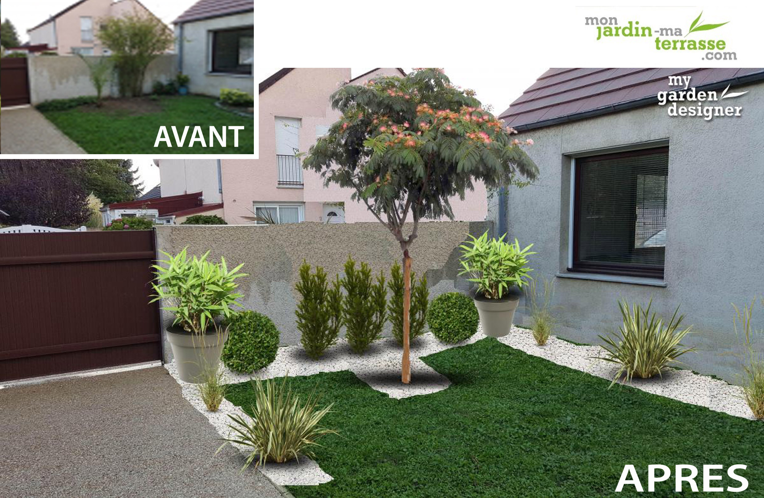 Am nager un petit jardin de 30m monjardin - Amenagement terrasse et jardin photo ...