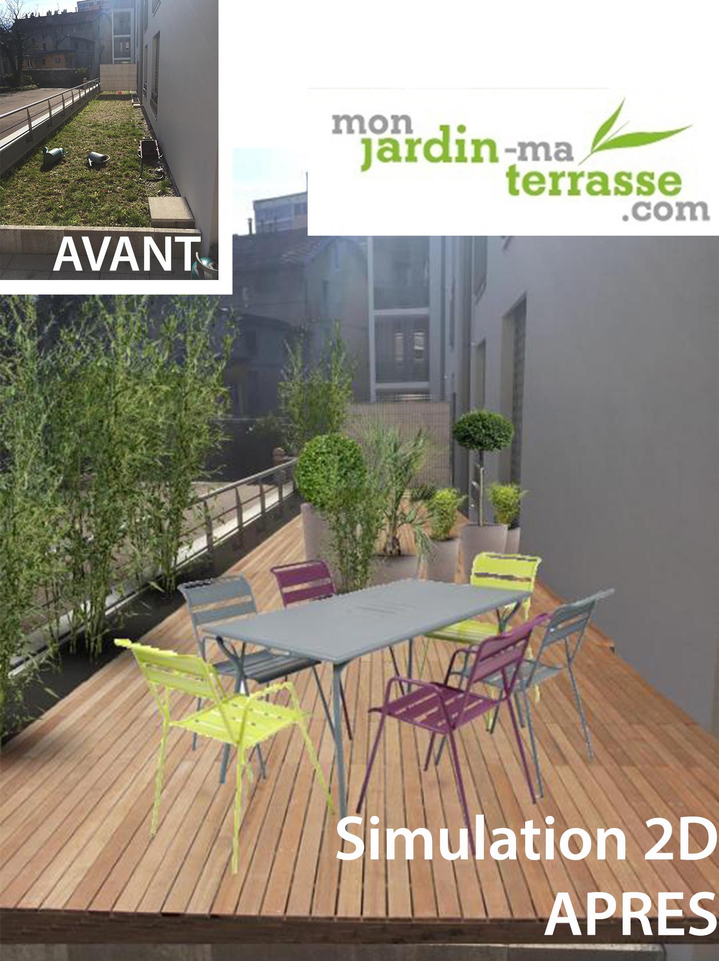 Aménagement du toit terrasse d\'un appartement   monjardin-materrasse.com