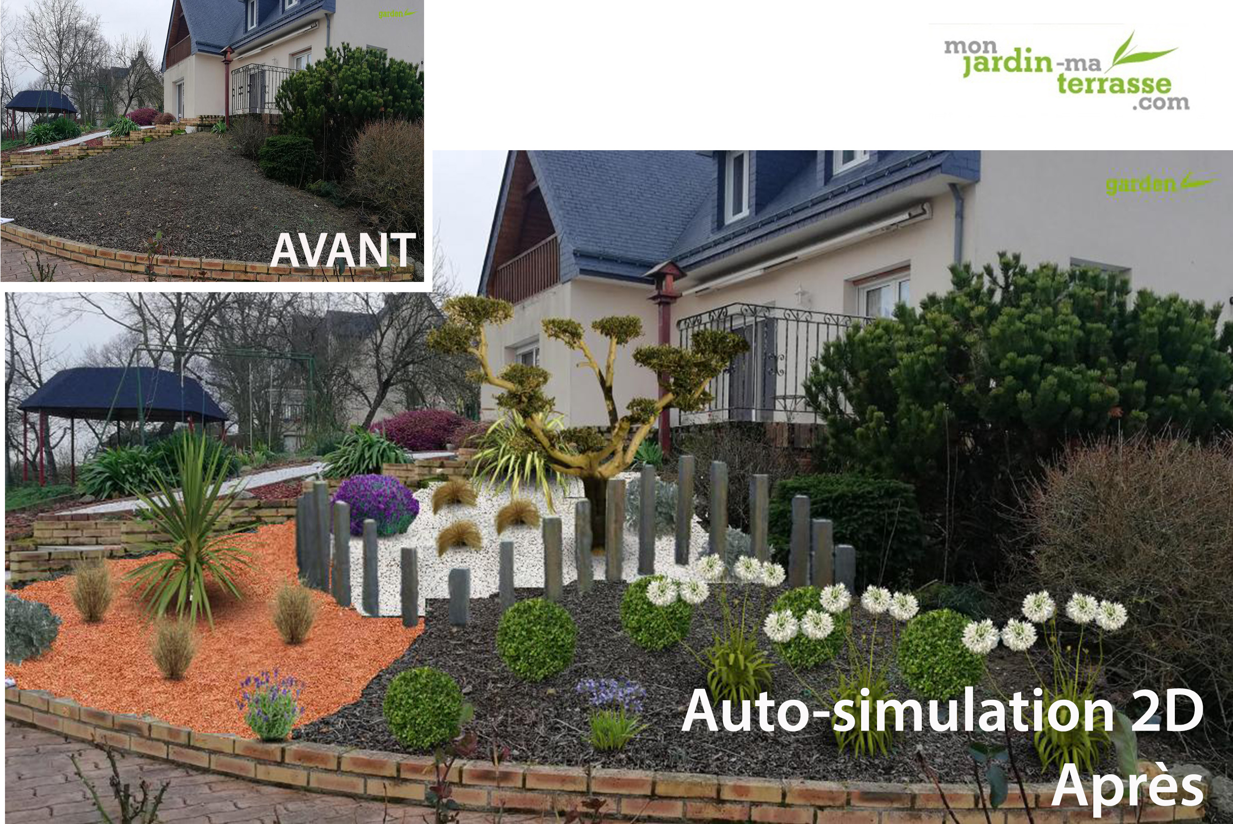 Avant apr s my garden designer for Logiciel paysagiste mac
