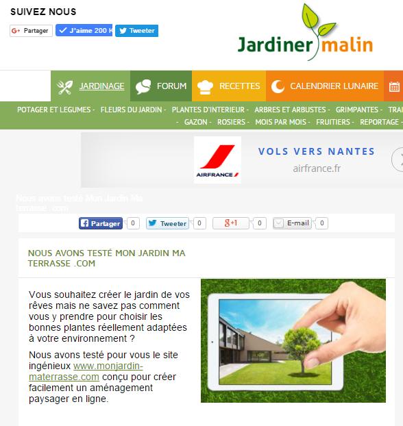 article presse jardin ForWww Jardiner Malin Fr